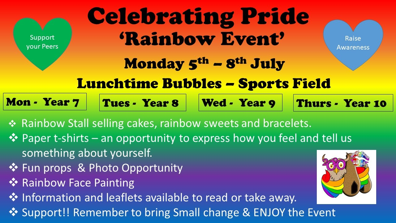 Celebrating pride advert