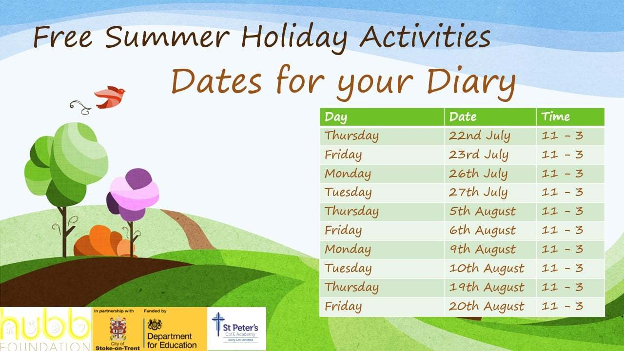 Summer school image wih dates
