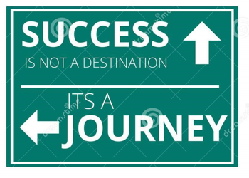 Succes is a journey picture