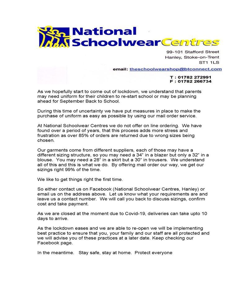 National schoolwear