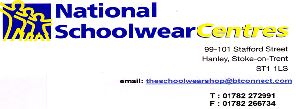 National schoolwear logo